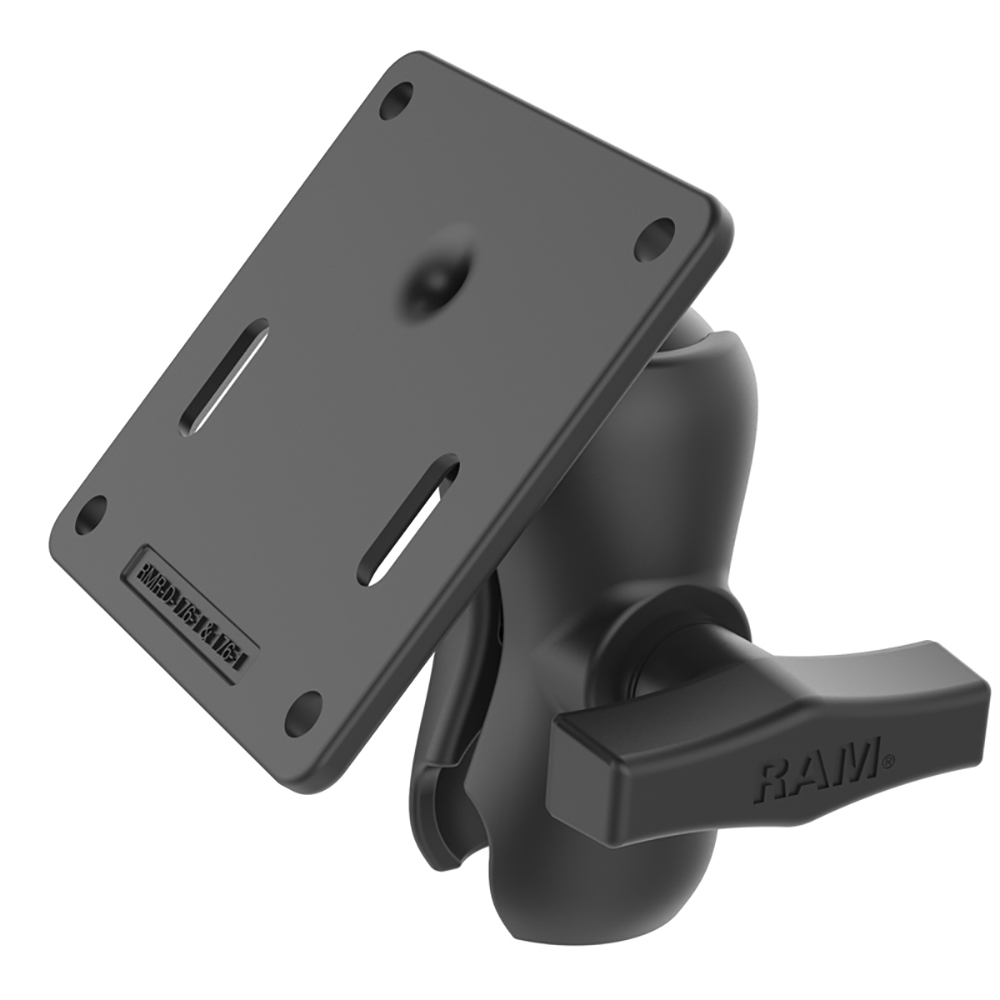 RAM Mount RAM® Double Socket Arm w/75x75mm VESA Plate