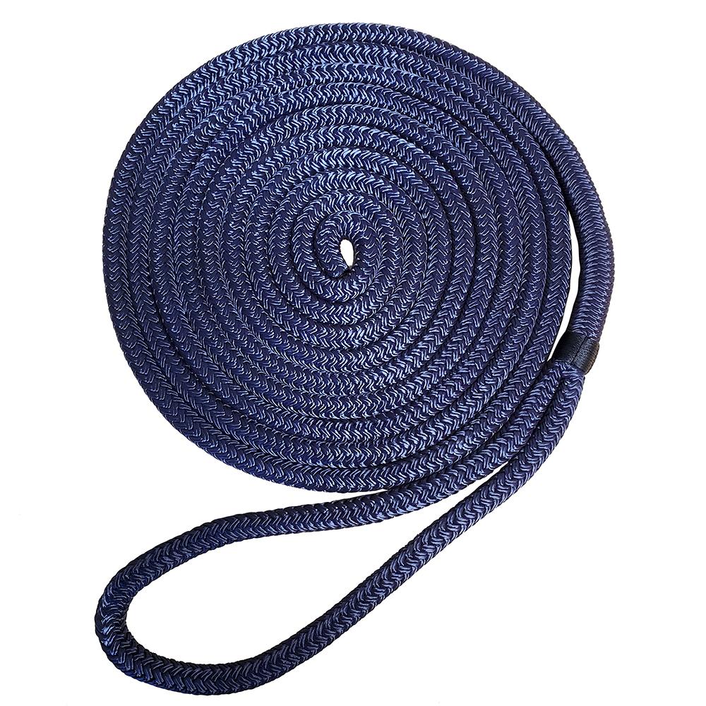 """Robline Premium Nylon Double Braid Dock Line - 3/8"""" x 15' - Navy Blue"""