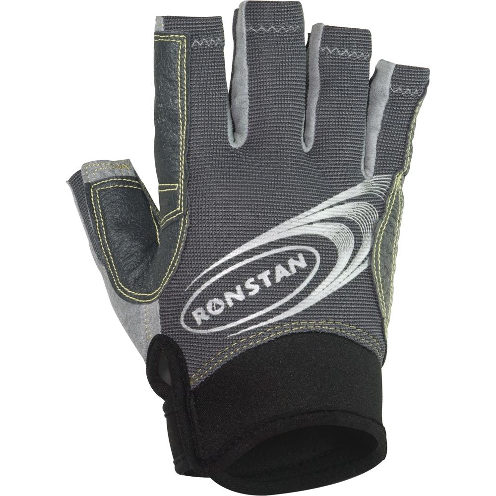 Ronstan Sticky Race Gloves w/Cut Fingers - Grey - X-Large