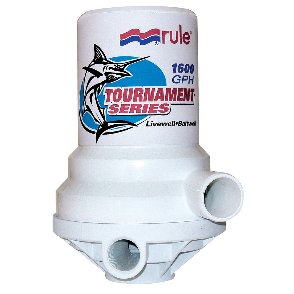 Rule Tournament Series 1600 GPH Livewell Pump Dual Port