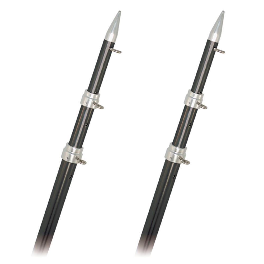 Rupp Top Gun Outrigger Poles - Telescopic - Carbon Fiber - 18'