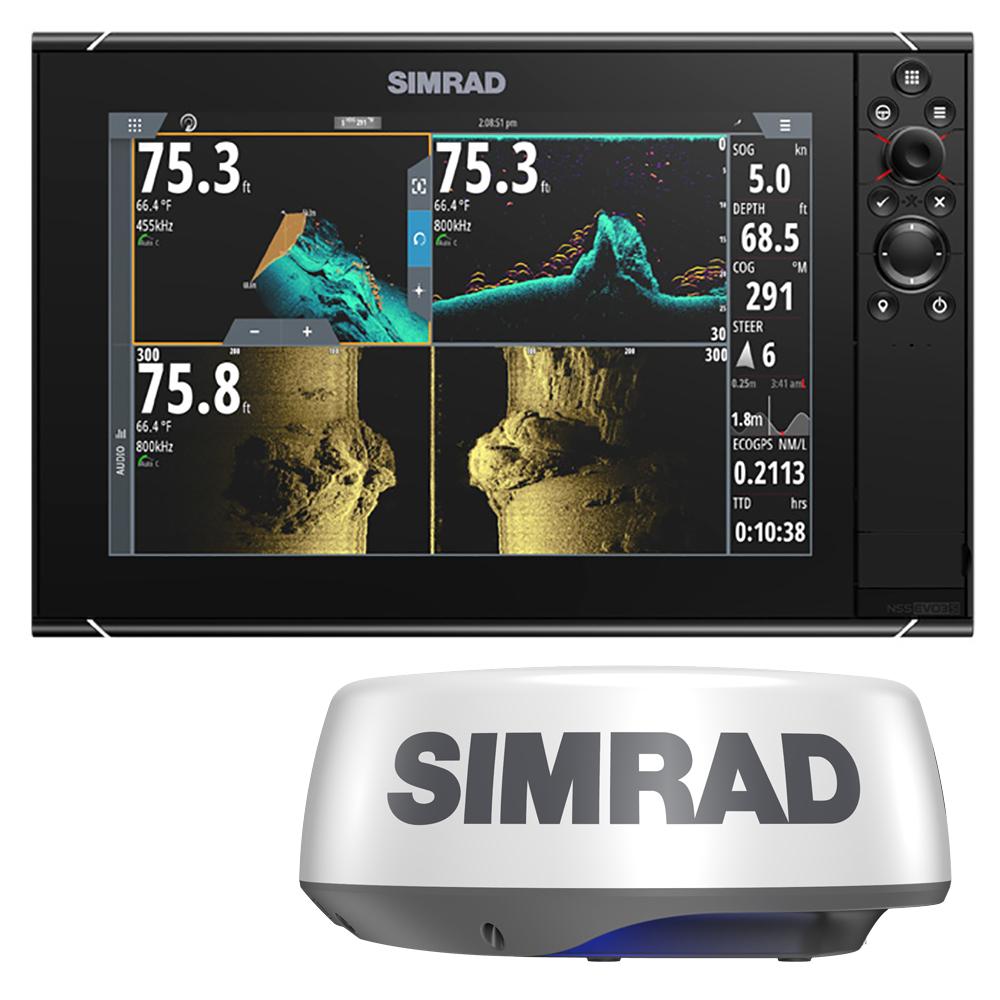 Simrad NSS12 evo3S Combo Radar Bundle w/Halo20+