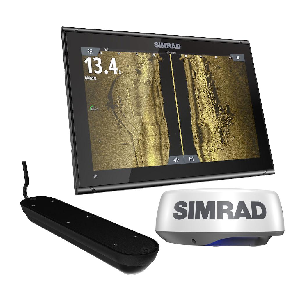 Simrad GO9 XSE Chartplotter Radar Bundle HALO20+ w/Transom Mount Active Imaging 3-in-1 Transducer