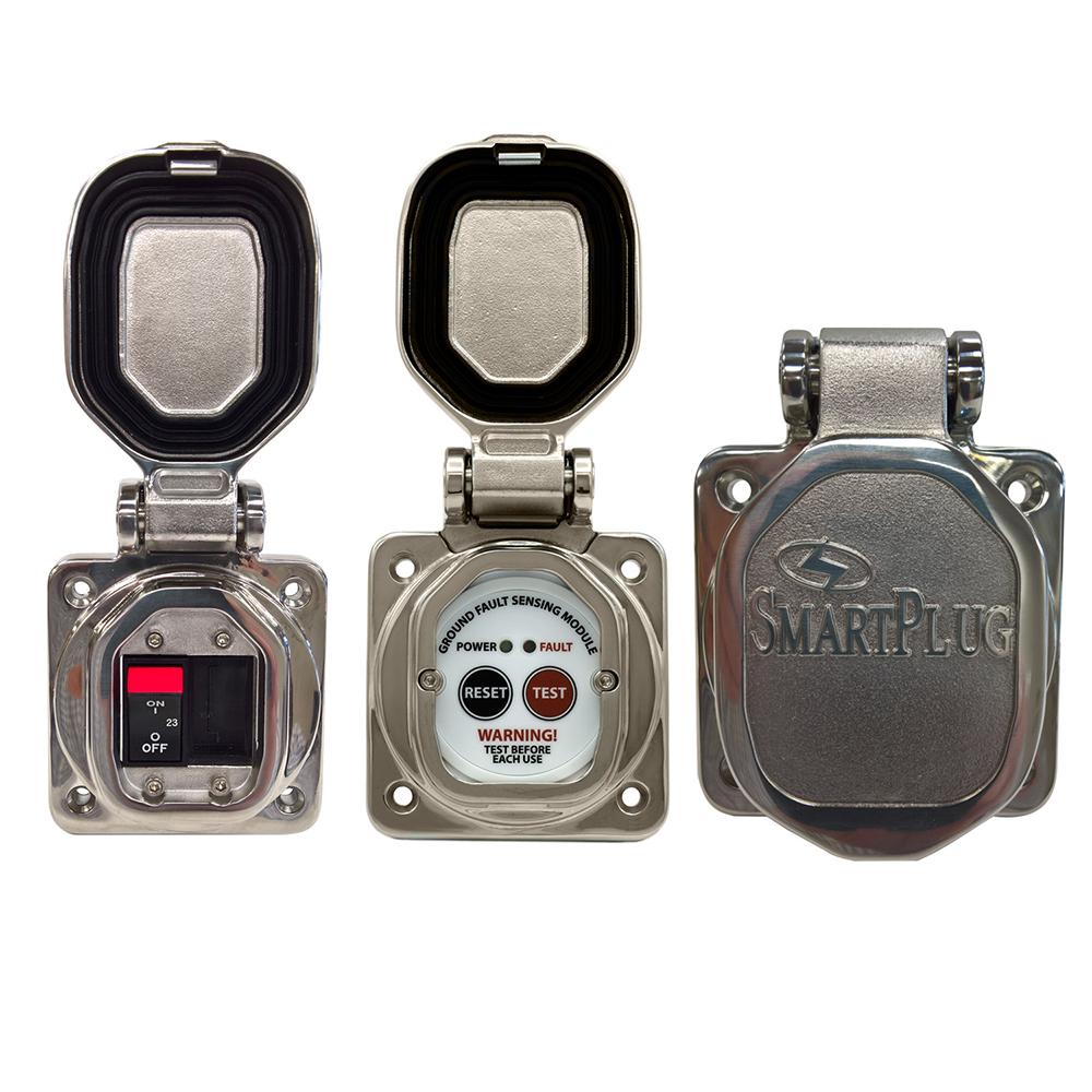 SmartPlug Combo Kit w/ELCI Sensor & 50 Amp Breaker/Stainless Steel Door