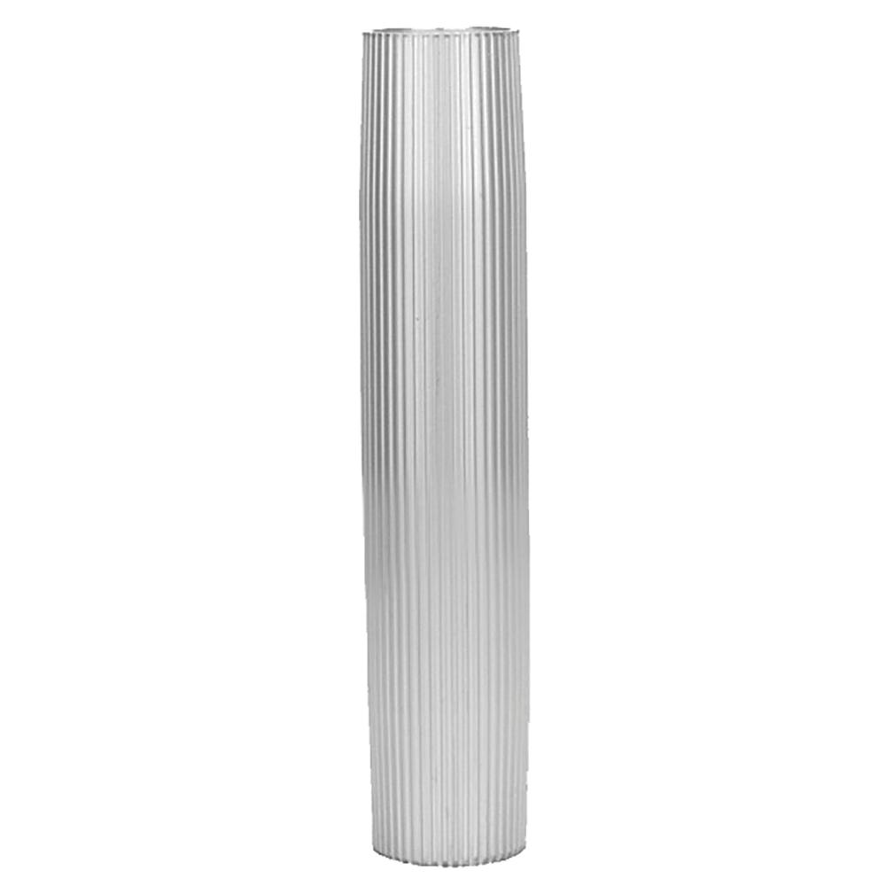 "TACO Aluminum Ribbed Table Pedestal - 2-3/8"" O.D. - 30-3/4"" Length"