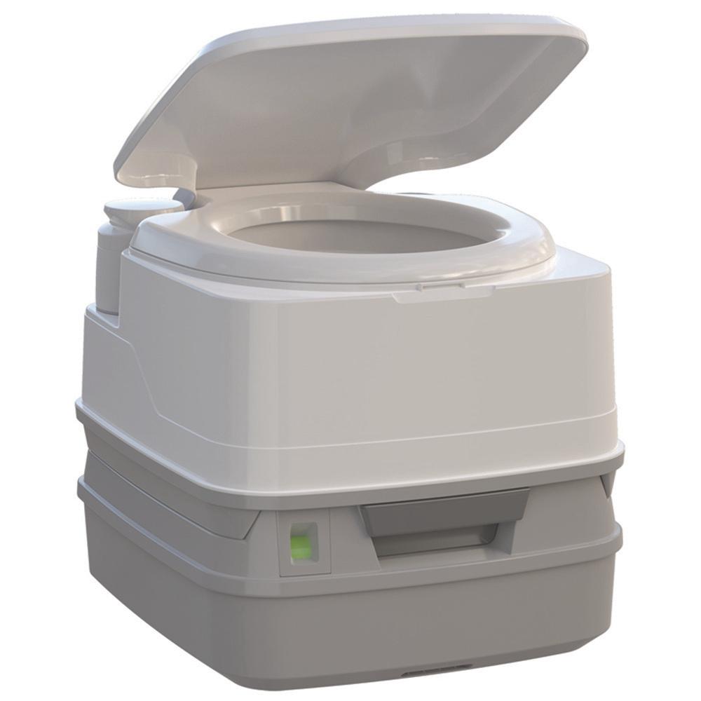 Thetford Porta Potti 260P MSD Marine Toilet 90° with Piston Pump, Level Indicator, and Hold-Down Kit