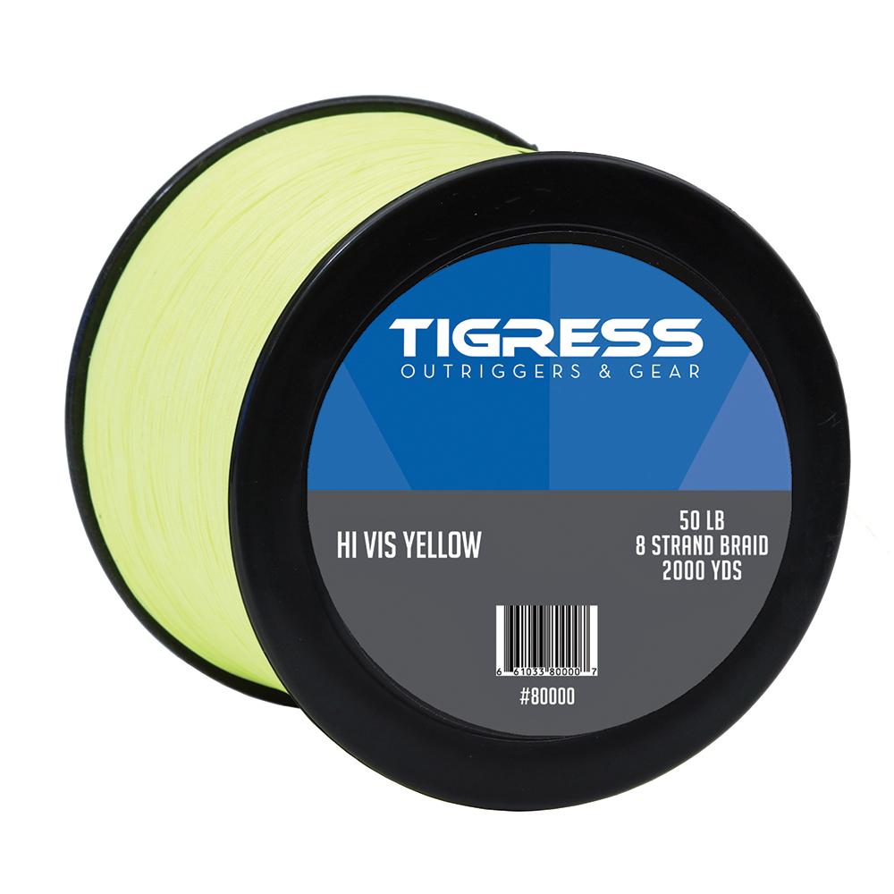 Tigress High- Visibility 50lb Kite Braid - Yellow