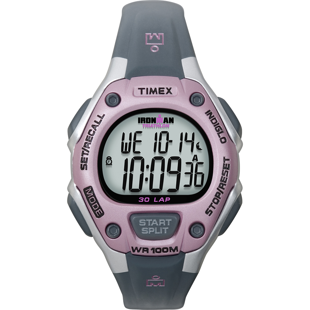 Timex IRONMAN® 30-Lap Mid-Size Watch - Pink/Grey