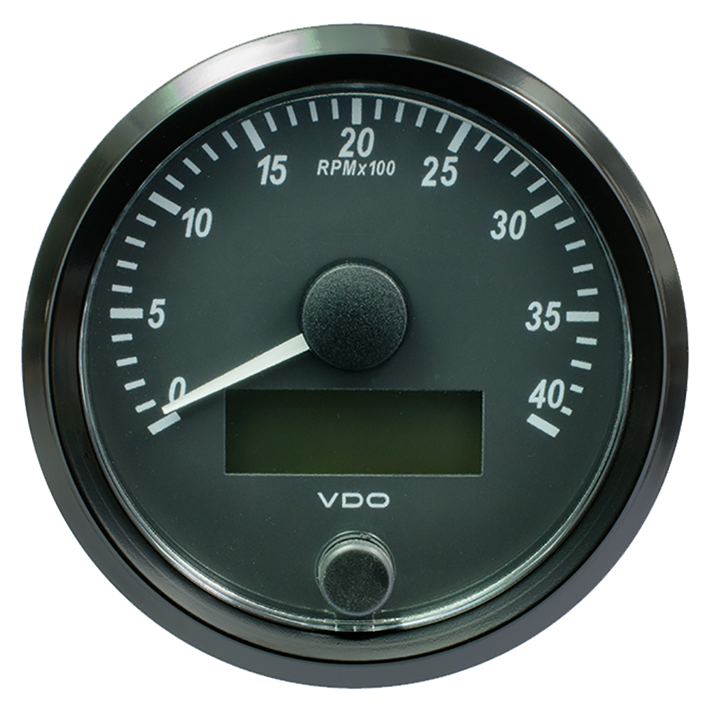 "VDO SingleViu 80mm (3-1/8"") Tachometer - 4,000 RPM"