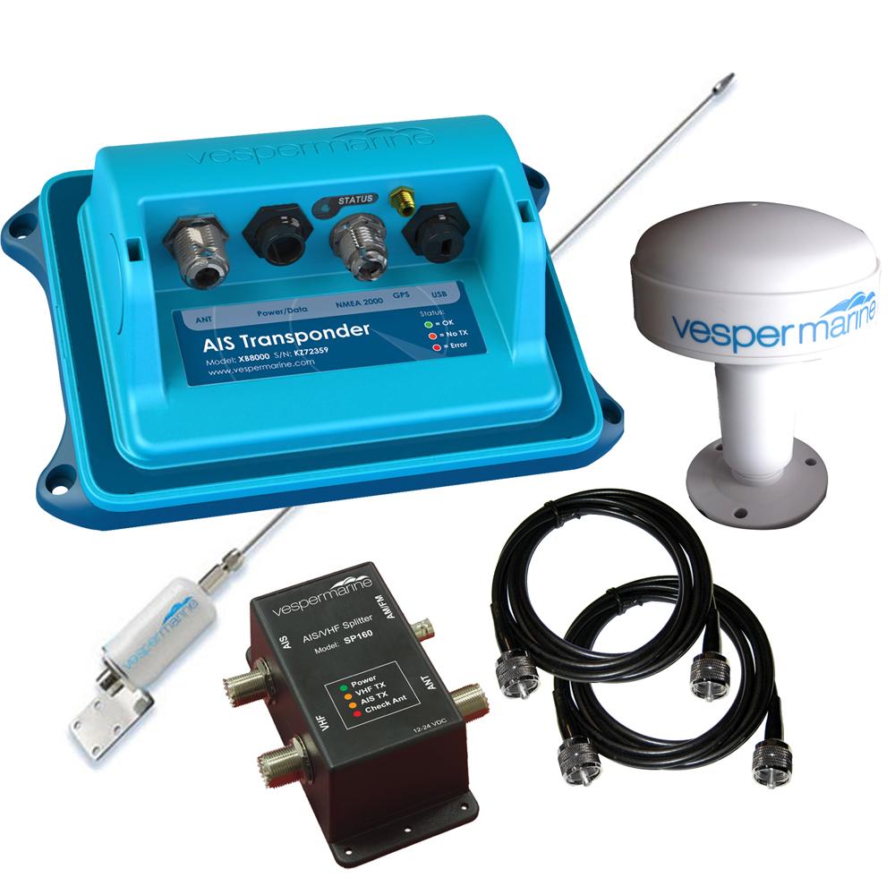 Vesper XB-8000 AIS Transponder Nav Station Package