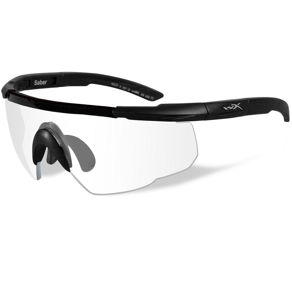 Wiley X Saber Advanced Sunglasses - Clear Lens - Matte Black Frame
