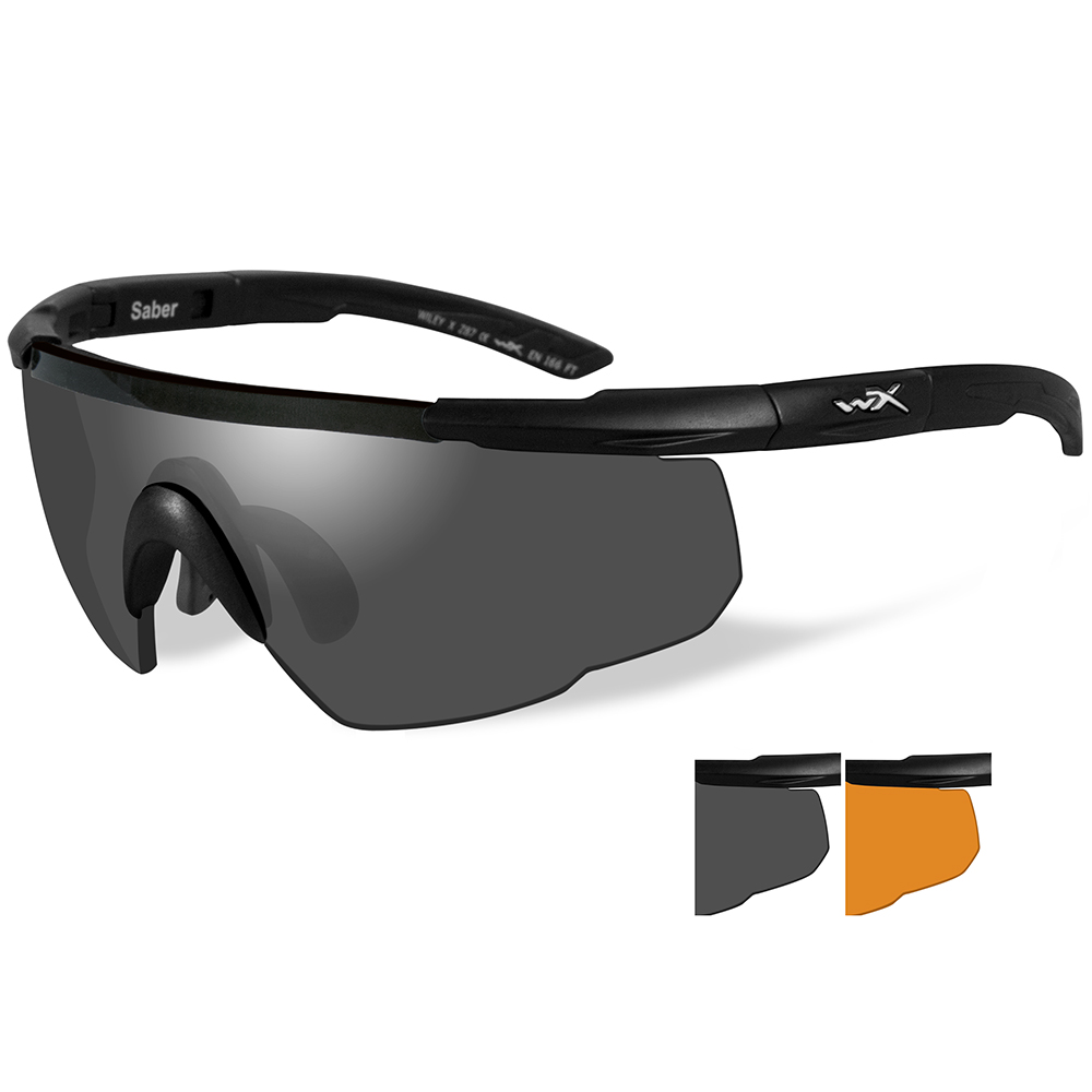 Wiley X Saber Advanced Sunglasses - Smoke Grey/Rust Lens - Matte Black Frame