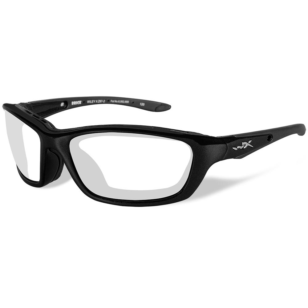 Wiley X Brick Sunglasses - Clear Lens - Gloss Black Frame