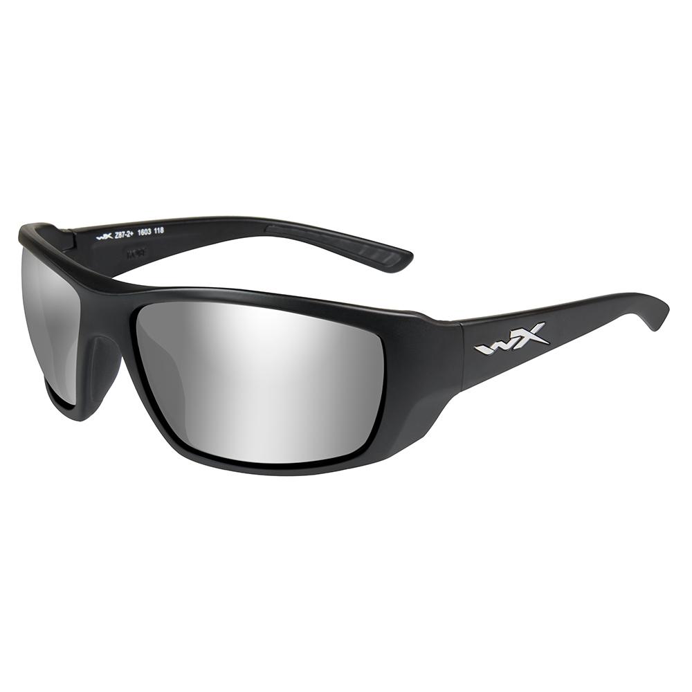 Wiley X Kobe Sunglasses - Silver Flash Smoke Grey Lens - Matte Black Frame