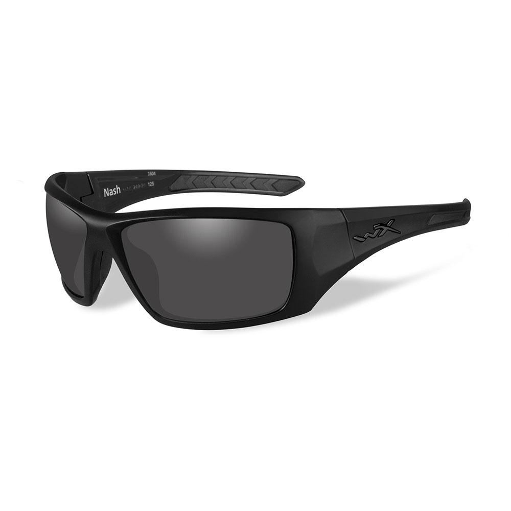 Wiley X Nash Sunglasses - Polarized Smoke Grey Lens - Matte Black Frame - Black Ops