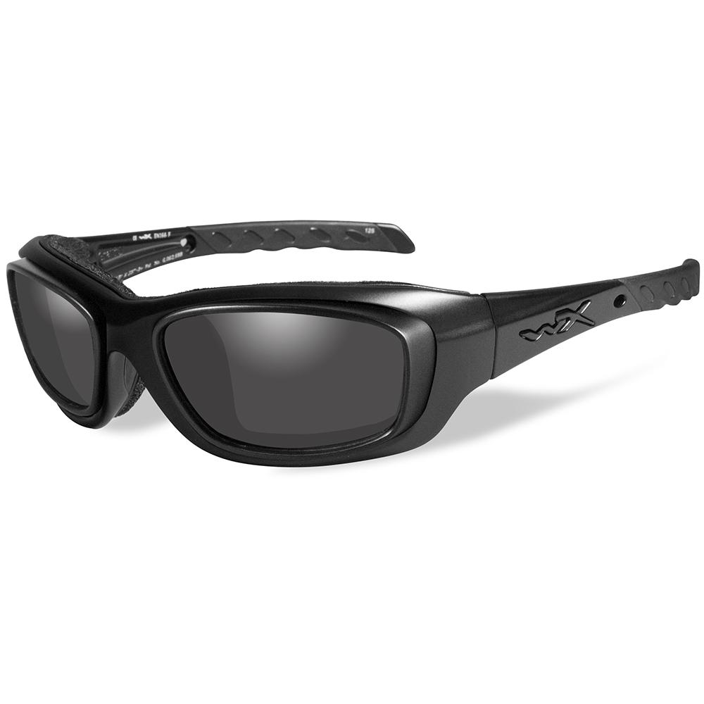 Wiley X Gravity Sunglasses - Smoke Grey Lens - Matte Black Frame w/Rx Rim