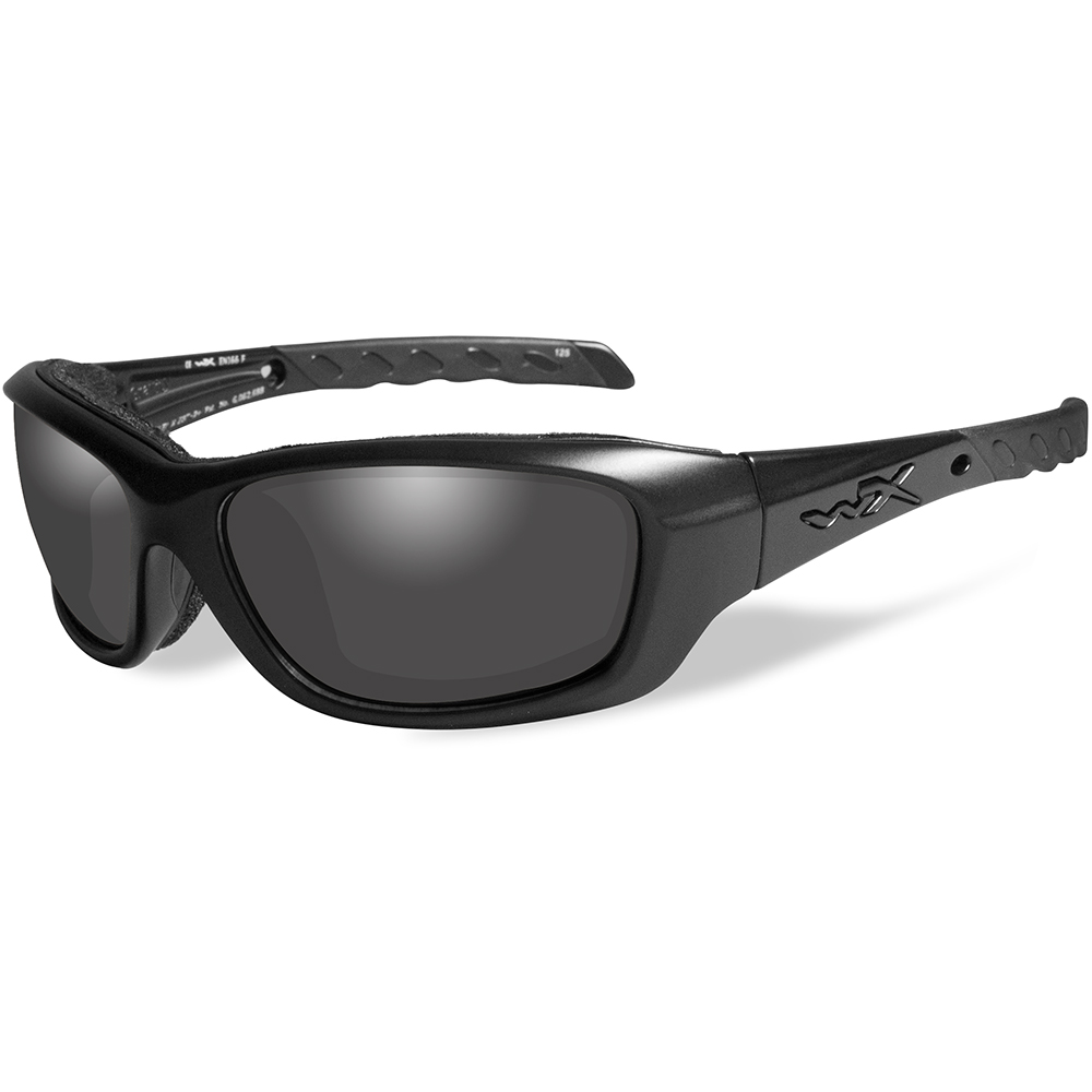 Wiley X Gravity Black Ops Sunglasses - Smoke Grey Lens - Matte Black Frame