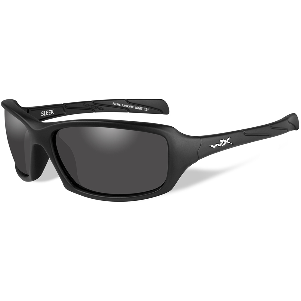 Wiley X Sleek Sunglasses - Smoke Grey Lens - Matte Black Frame