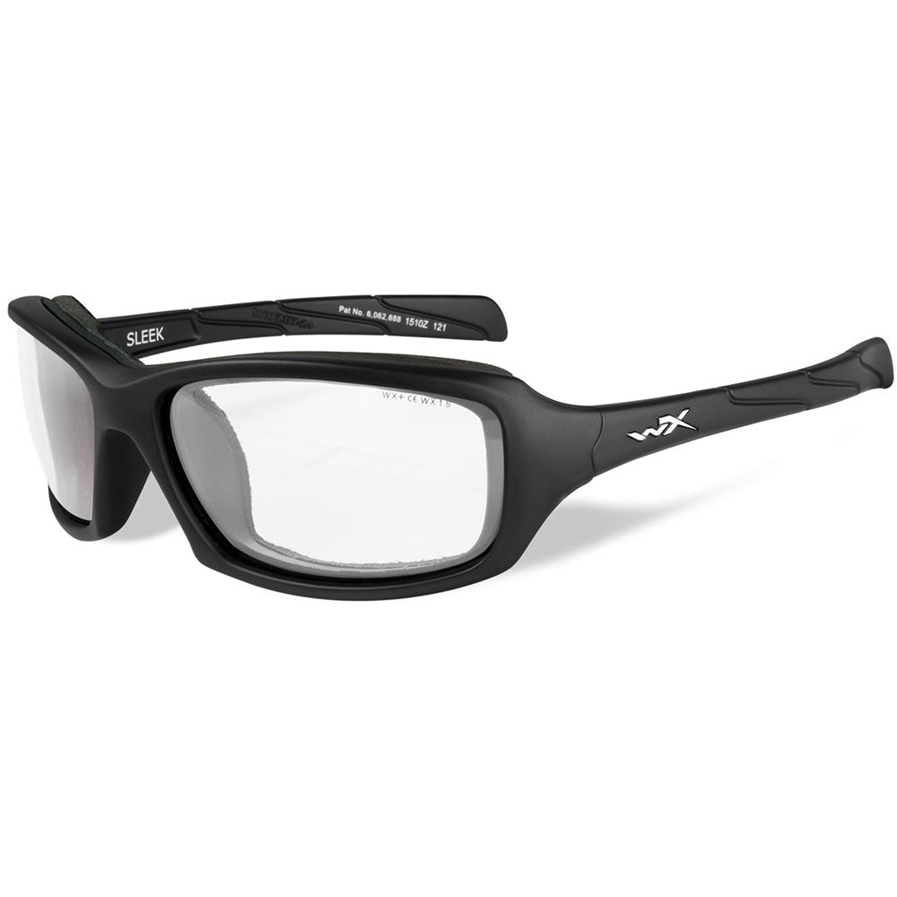 Wiley X Sleek Sunglasses - Clear Lens - Matte Black Frame