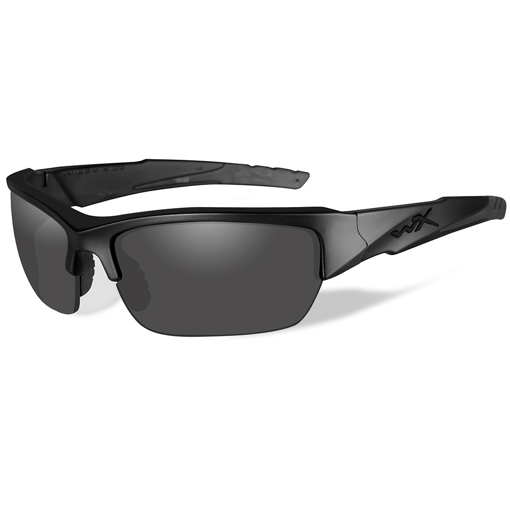 Wiley X Valor Black Ops Polarized Sunglasses - Smoke Grey Lens - Matte Black Frame