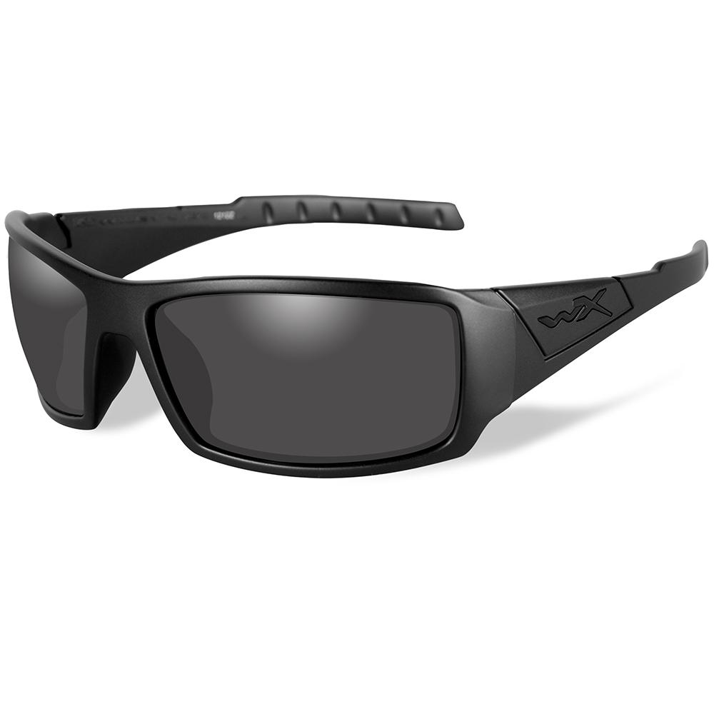 Wiley X Twisted Black Ops Sunglasses - Smoke Grey Lens - Matte Black Frame