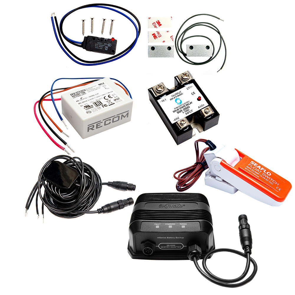 mazu M25 Sentry Kit Includes Sentry Adapter Cable, Float Switch, Magnetic Contacts, Backup Battery, Sensors & Actuator